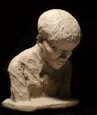 彫刻 島津理恵(2010年度卒業生)「青年胸像」