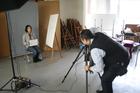 卒業制作の写真撮影が行われました