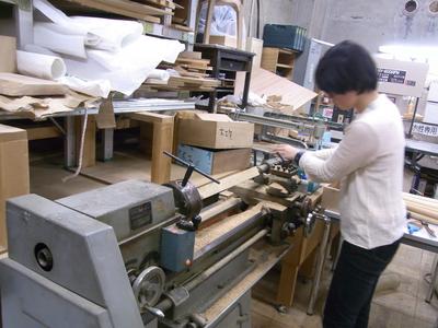 木工室レポート-旋盤